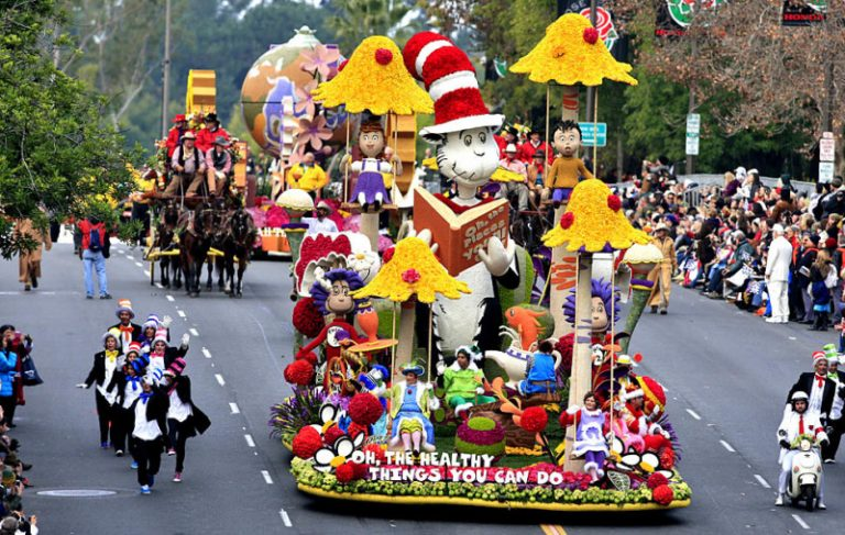 Rose Parade on New Years Day